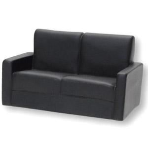 Soft Vinyl Sofa Two Person Black Fashion Doll