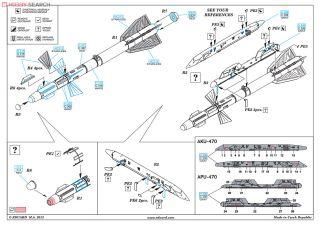 EDUARD BRASSIN 648101 R-27ET AA-10 Alamo-D Missiles in 1:48