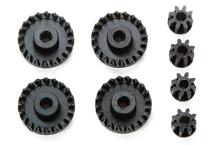 GP462 Carbon Reinforced Gear G13/8T Pinion Set (Mini 4WD)