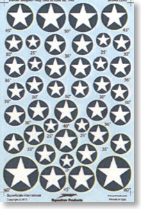 Decal for United States Army Air Corps Military aircraft insignia 1942-43