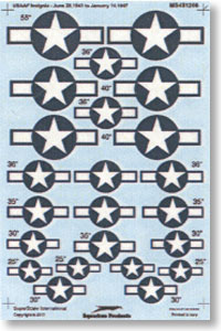 Decal for United States Army Air Corps/Air force Military aircraft