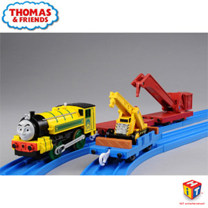THOMAS&FRIENDS `BLUE MOUNTAIN MYSTERY` Yellow Victor and Kevin Working Set (4-Car + 1-Car Set) (Plarail)