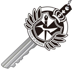 Danganronpa the Animation School Badge Key Cover (Anime Toy)