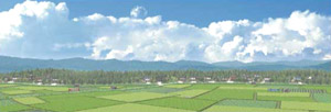 パノラマシリーズ 田園と農村・夏 (背景画)