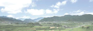 パノラマシリーズ 山間の田園 (背景画)