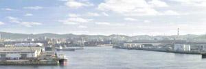 パノラマシリーズ 港と工業地帯 (背景画)