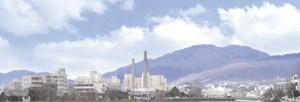 パノラマシリーズ 煙突が見える街並 (背景画)