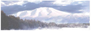 パノラマシリーズ 北の風景・吹雪 (背景画)