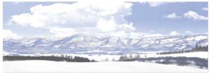 パノラマシリーズ 北の風景・雪晴 (背景画)
