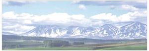 パノラマシリーズ 雪残る山並み (背景画)