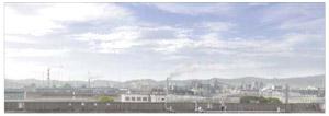 パノラマシリーズ 工場地帯 (背景画)