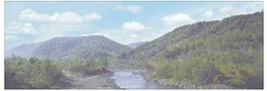 パノラマシリーズ 山並みと渓流 (背景画)