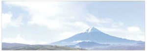 パノラマシリーズ 山並み・富士 (背景画)