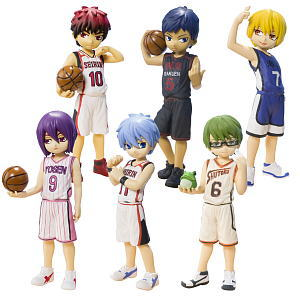 Half Age Characters Kuroko`s Basketball [Generation of Miracle] 6 pieces (PVC Figure