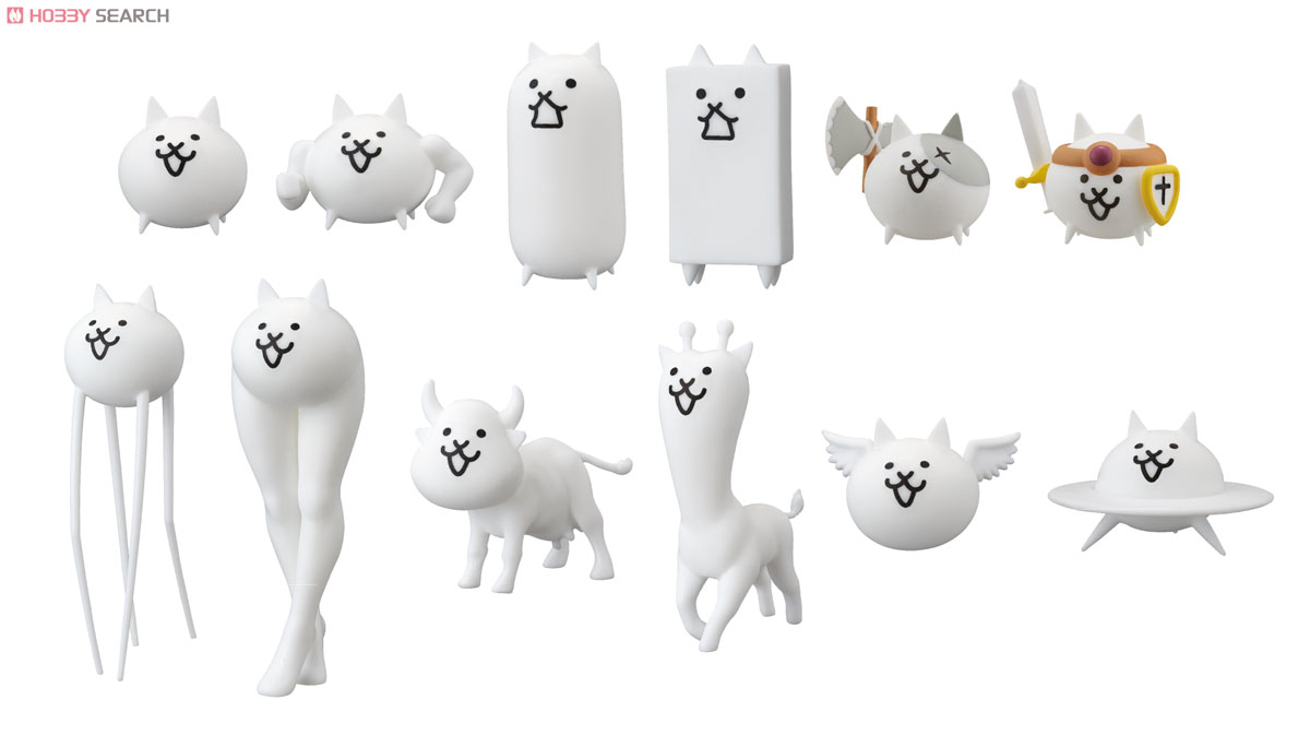 Battle Cats Neko Kan Eraser Mascot 6 Pieces Anime Toy Item Picture1