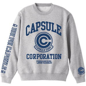 Dragon Ball Kai Capsule Corporation Sweatshirt Mix Gray M (Anime Toy)