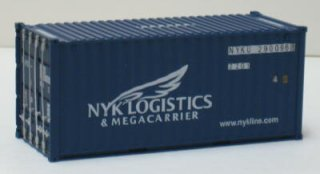 (OO) 20ft Container (NYK LOGISTICS) (Model Train
