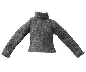 PNS Long-sleeved Turtleneck (Gray) (Fashion Doll)
