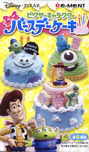 Pixar Character Birthday Cake 6 pieces (Anime Toy)