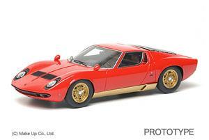 Lamborghini Miura P400S 1968 (レッド&ゴールド) (ミニカー)