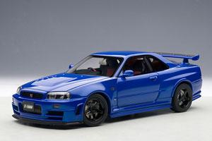 ニスモ R34 GT-R Z-tune (ベイサイドブルー) (ミニカー)