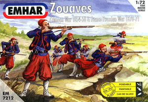 Armies in Plastic Franco-Prussian War French Army 1st Zouave Regiment 1//32 54mm