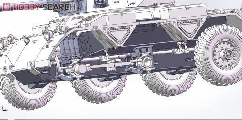 British Army 6-wheeled Armored Car Saladin Mk II (Plastic