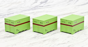 1/80(HO) J.N.R. Container Type C31 (3pcs.) (Model Train)