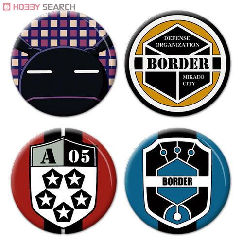 World Trigger Can Badge Set (Replica/Border Emblem Set) (Anime Toy ...: 1999.co.jp/eng/image/10297063a/20/1