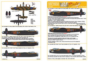 1/144 Avro Lancaster B.I `Still Going Strong` `Getting Younger Every Day` `Devil`(Decal) (Plastic model)