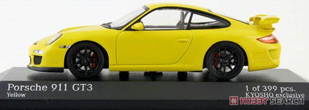 ポルシェ 911GT3 (997II) 2009 イエロー/ブラックホイール 京商EXCLUSIVE (ミニカー)