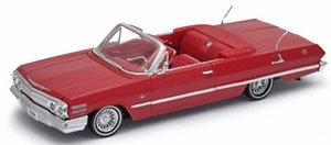 シボレー インパラ コンバーチブル 1963 (レッド) (ミニカー)
