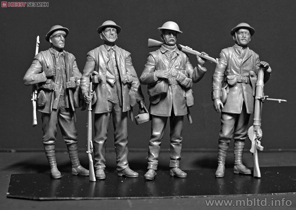 英・歩兵部隊 5体 - ソンム戦 1916年 WWI (プラモデル)