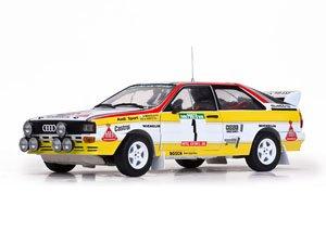 アウディ クアトロ A2 1984年ポルトガルラリー 優勝 #1 H.Mikkola/A.Hertz (ミニカー)