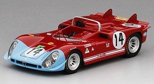 アルファロメオ Tipo 33/3 #14 アウトデルタ 1970 タルガ・フローリオ (ミニカー)