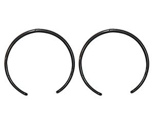 1/6用プラスティックカチューシャ (二個セット) (ブラック) (ドール)