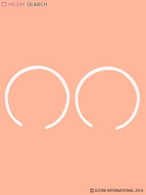 1/6用プラスティックカチューシャ (二個セット) (ホワイト) (ドール)