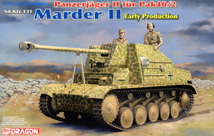 WW.II German Marder II 7.5cmPaK40 / 2-Mounted Early Production (Plastic model)