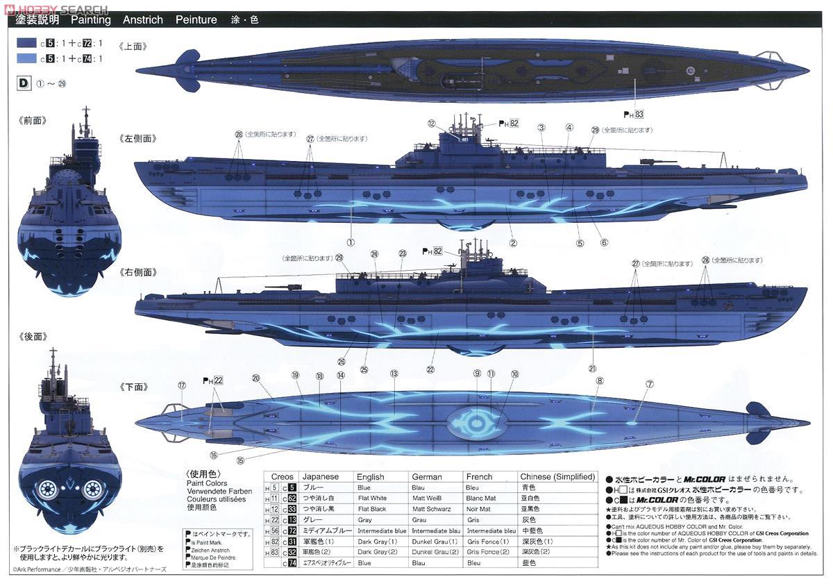 Submarine Blue Steel I-401 (Plastic model) Images List