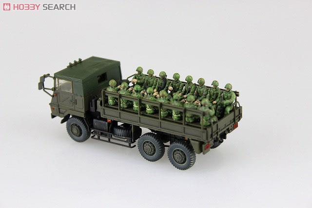 陸上自衛隊 73式大型トラック 3t半 (乗車隊員20体セット) (プラモデル)