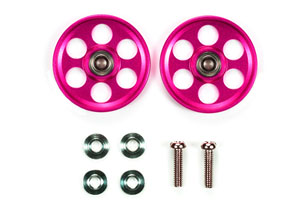 HG Light Weight 19mm Aluminum Bearing Roller (Pink) (Mini 4WD)