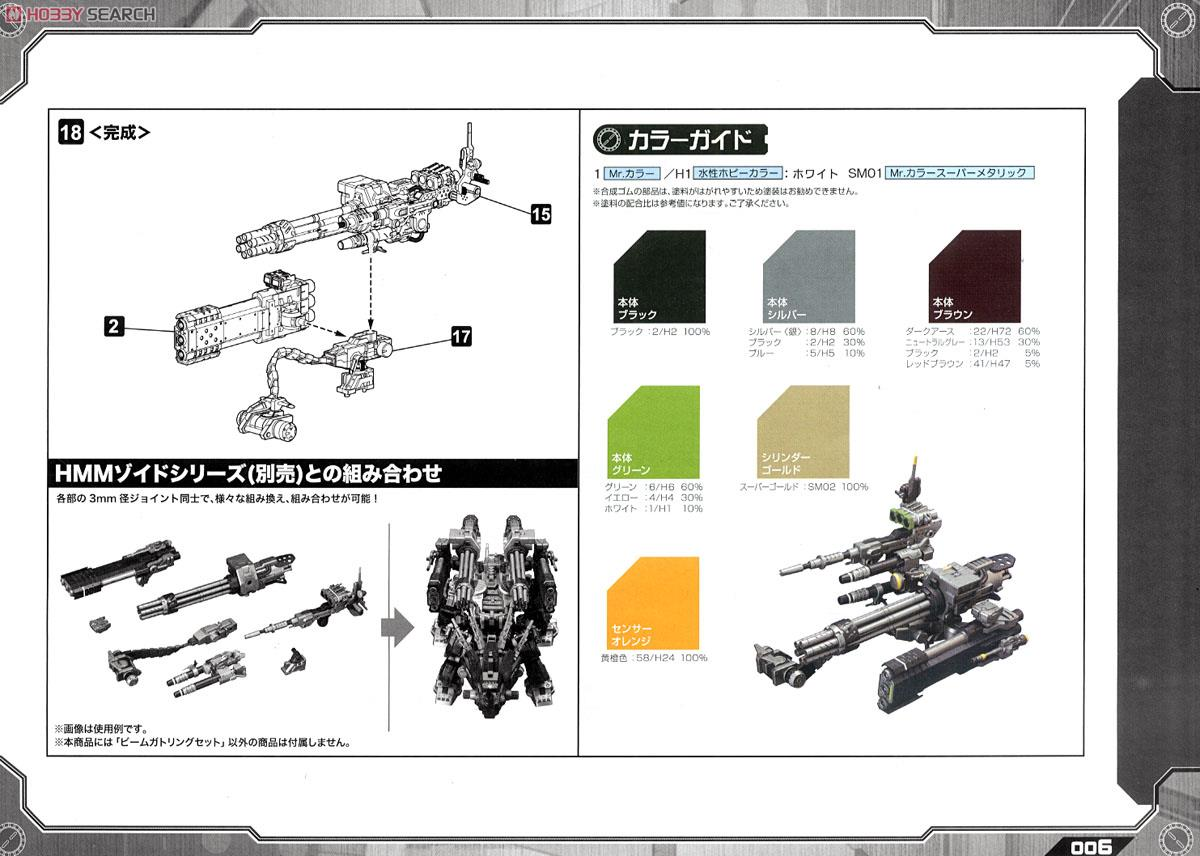 Zoids Customize Parts Beam Gatling Set (Plastic model) Assembly guide5