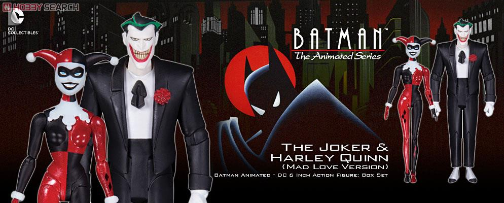 Book Batman Animated Series Joker /& Harley Quinn Mad Love 2 Action Figures