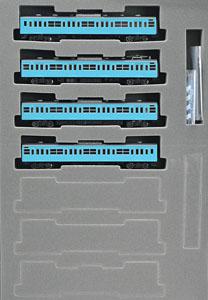 国鉄 103系 通勤電車 (新製冷房車・スカイブルー) 基本セット (基本・4両セット)