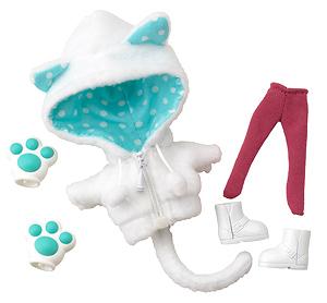 キューポッシュえくすとら あにまるパーカーセット(白猫) (フィギュア)