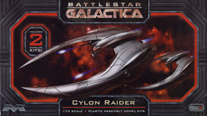 Battle Star Galactica Cylon Raider (Set of 2) (Plastic model)