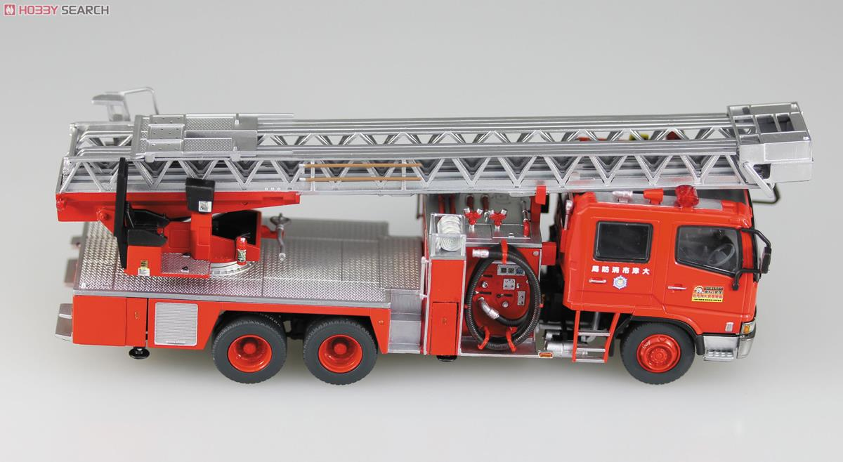 Ladder with Fire Engine (Otsu Municipal Fire Department East Ladder 1) (Model Car) Item picture5