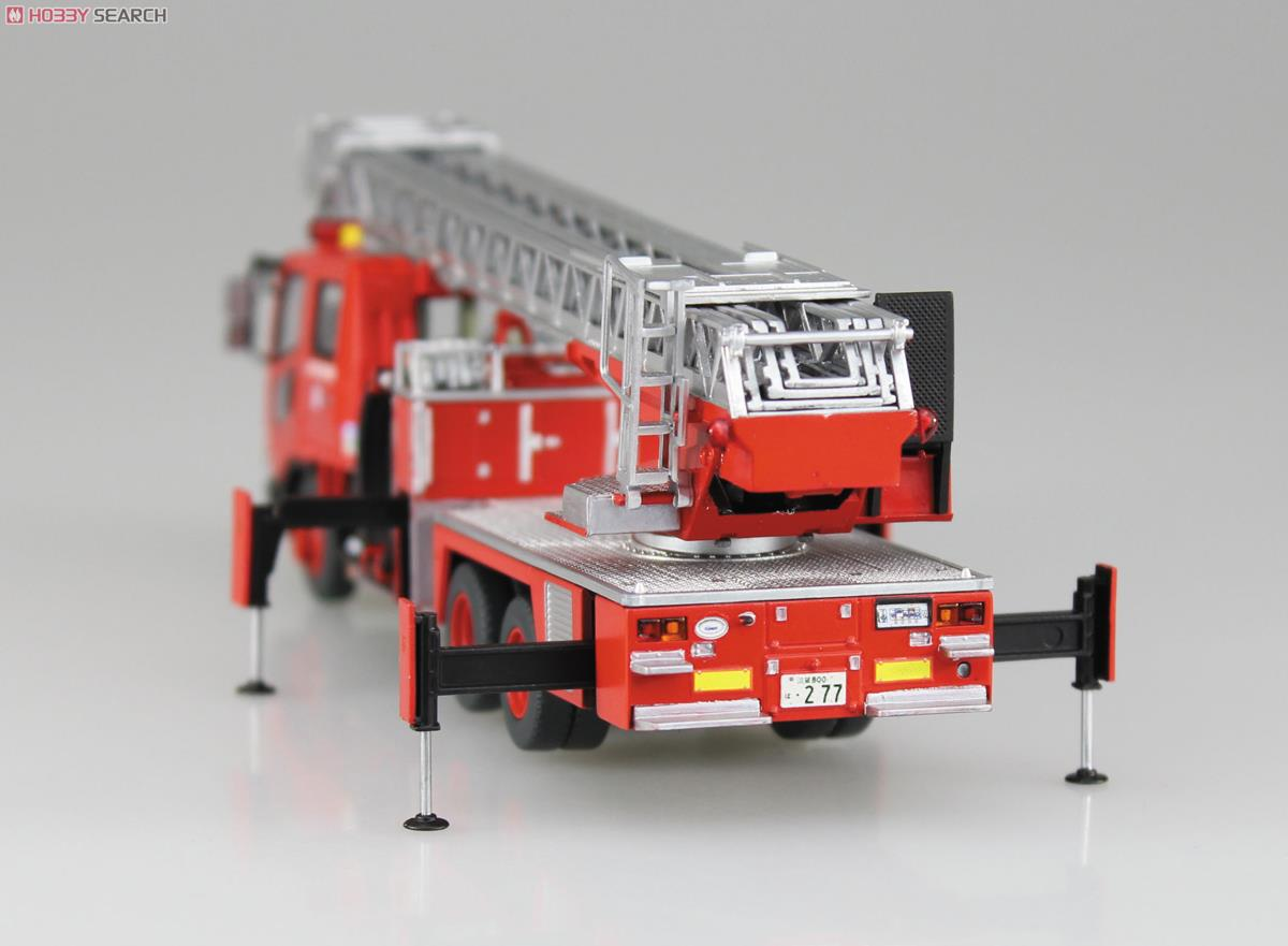 Ladder with Fire Engine (Otsu Municipal Fire Department East Ladder 1) (Model Car) Item picture6