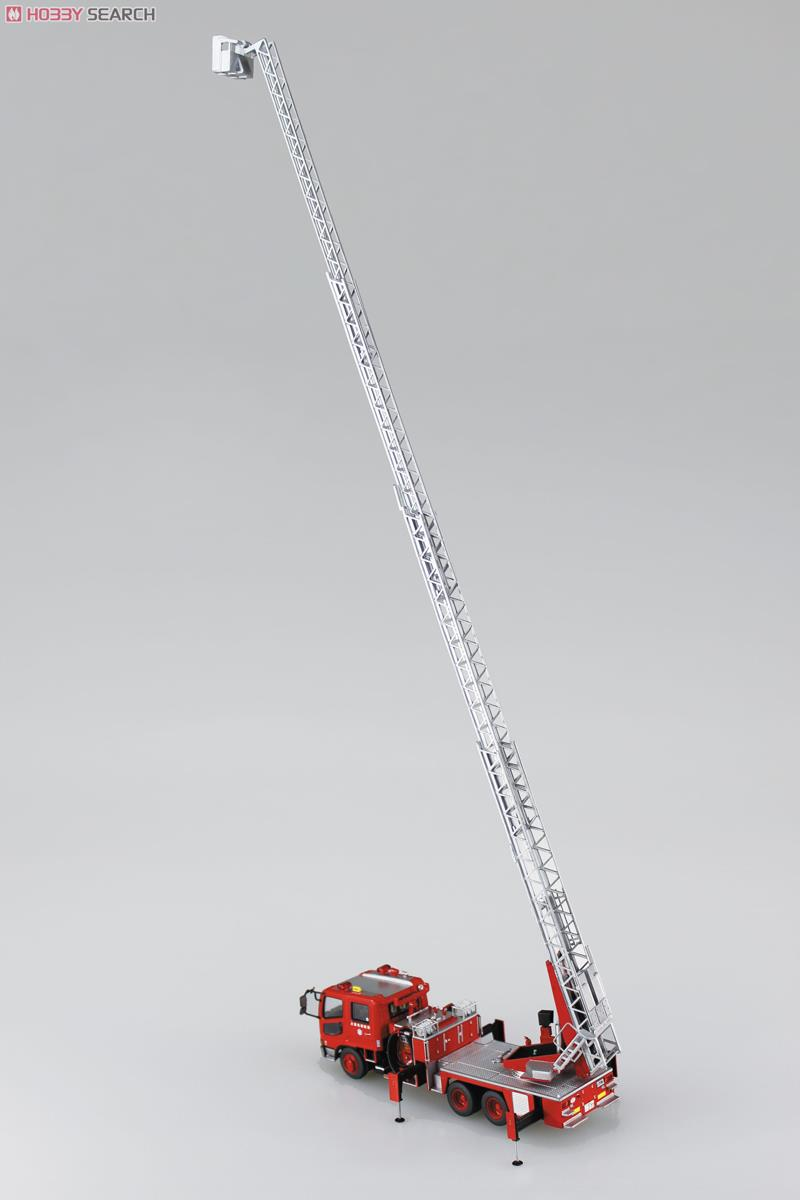 Ladder with Fire Engine (Otsu Municipal Fire Department East Ladder 1) (Model Car) Item picture7