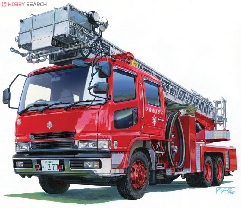 Ladder with Fire Engine (Otsu Municipal Fire Department East Ladder 1) (Model Car) Other picture1